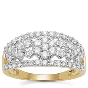 Argyle Diamond Ring in 9K Gold 0.76ct