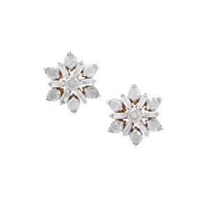 Diamond Earrings in 9K Gold 1cts