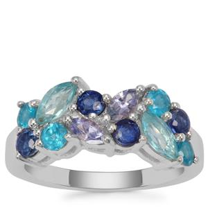 Kaleidoscope Gemstones Ring in Sterling Silver 2.02cts