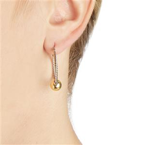 Two Tone Gold Plated Sterling Silver Earrings