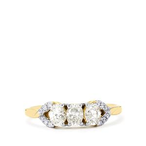 Diamond Ring in 18K Gold 0.79ct