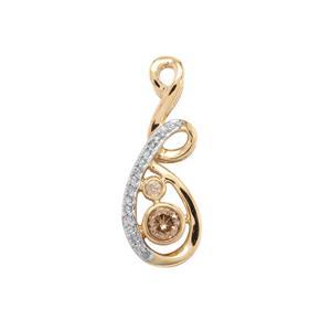 Natural Coloured Diamond Pendant with White Diamond in 10K Gold 0.26ct