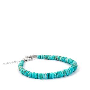 Cochise Turquoise Bracelet in Sterling Silver 44.60cts