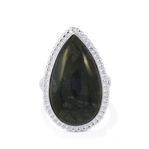 19ct Picasso Jasper Sterling Silver Aryonna Ring