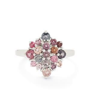 1.30ct Burmese Multi-Colour Spinel Sterling Silver Ring