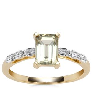Csarite® Ring with Diamond in 10K Gold 1.23cts