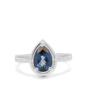 Hope Topaz & White Zircon Sterling Silver Ring ATGW 2.35cts