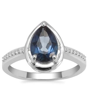 Hope Topaz Ring with White Zircon in Sterling Silver 2.35cts