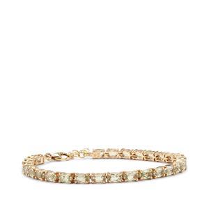7.74ct Csarite® 9K Gold Tomas Rae Bracelet
