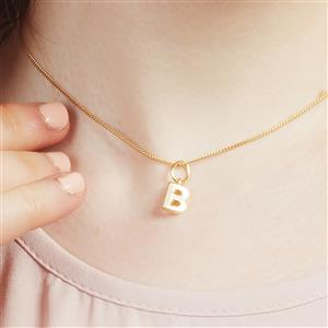 Molte B Letter Charm in Gold Plated Silver