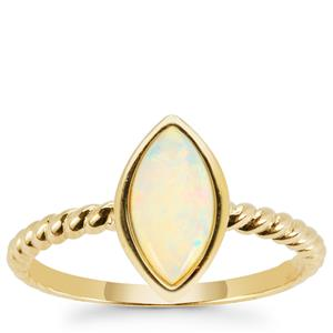 Coober Pedy Opal Ring in 9K Gold 0.60cts