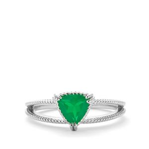 0.48ct Ethiopian Green Opal Sterling Silver Ring