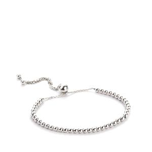 Sterling Silver Altro Ball and Chain Slider Bracelet 4.00g