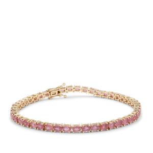 Padparadscha Sapphire Bracelet in 9K Gold 10.50cts