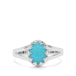 1.56ct Sleeping Beauty Turquoise Sterling Silver Ring