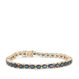 Natural Nigerian Blue Sapphire Bracelet in 9K Gold 11.83cts