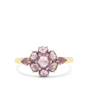 1.24ct Rose Cut Purple Sapphire 9K Gold Ring