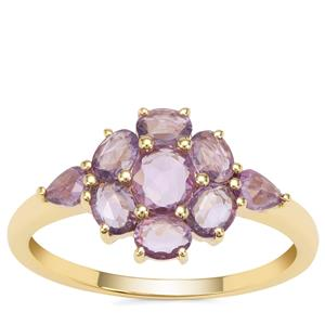 Rose Cut Purple Sapphire Ring in 9K Gold 1.24cts