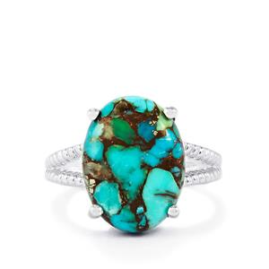 Egyptian Turquoise Ring  in Sterling Silver 8.08cts