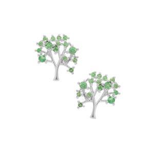 0.60ct Tsavorite Garnet Sterling Silver Earrings