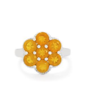 2.24ct AA Orange American Fire Opal Sterling Silver Ring