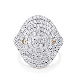 Diamond Ring in 14K Gold 2.01cts