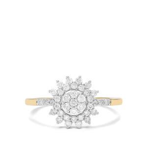 1/2ct Argyle Diamond 9K Gold Ring