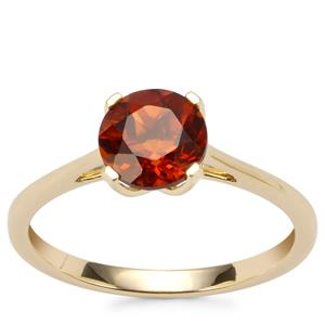Madeira Citrine Ring in 9K Gold 1.09cts