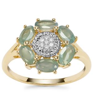 Alexandrite Ring with Diamond in 9K Gold 1.43cts