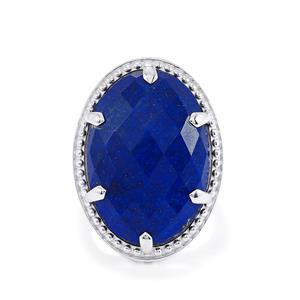 21.32ct Sar-i-Sang Lapis Lazuli Sterling Silver Ring