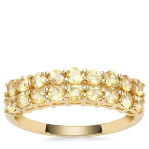 Ambilobe Sphene Ring in 9K Gold 1.31cts