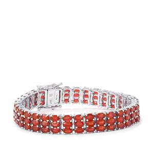 Malagasy Ruby Bracelet in Sterling Silver 37.09cts (F)