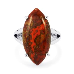 Sonoreña Seam Agate Ring in Sterling Silver 12cts