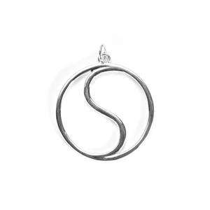Sterling Silver Yin Yang Pendant 3.18g