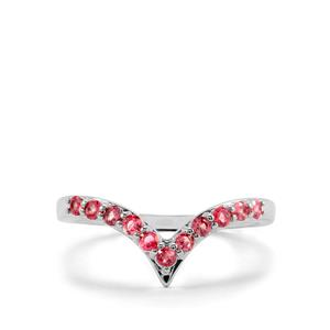 Mahenge Red Spinel Ring in Sterling Silver 0.40cts