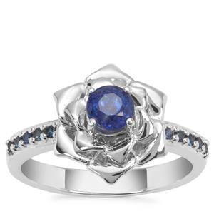 Nilamani Ring with Ceylon Blue Sapphire in Sterling Silver 0.82ct