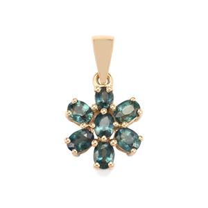 1.54ct Nigerian Blue Sapphire 9K Gold Pendant