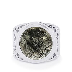 10ct São Paulo Tourmalinated Quartz Sterling Silver Ring