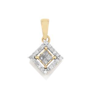1/4ct Diamond 10K Gold Pendant