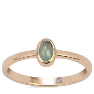Cats Eye Alexandrite Ring in 9K Gold 0.42ct