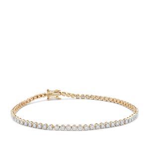 Diamond Bracelet in 9K Gold 1.50cts