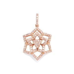1/2ct Pink Diamond 10K Rose Gold Tomas Rae Pendant