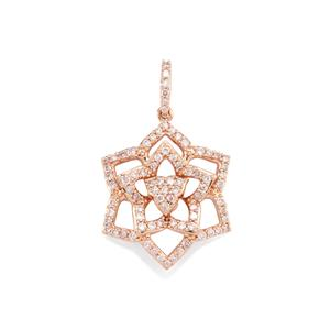 Pink Diamond Pendant in 10K Rose Gold 0.50ct