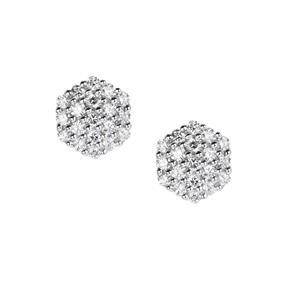 3/4ct Diamond Platinum 950 Tomas Rae Earrings