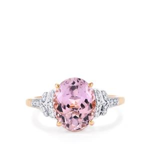 Mawi Kunzite Ring with Diamond in 18K Rose Gold 4.23cts