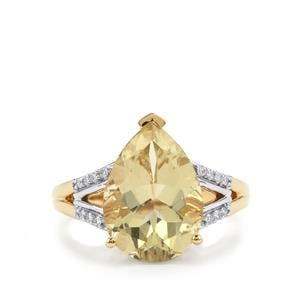 Serenite Ring with Diamond in 18K Gold 4.65cts