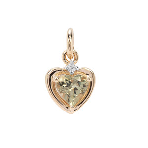Csarite® Pendant with White Zircon in 9K Gold 1.32cts