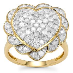 Diamond Ring  in 10k Gold 1.20ct