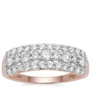 Argyle Diamond Ring in 9K Rose Gold 0.76ct