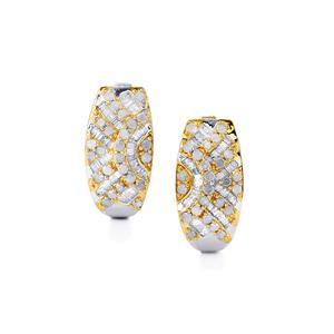 1ct Diamond Two Tone Midas Earrings